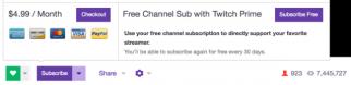 Twitch Prime subscription