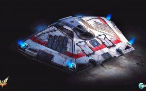 Sidewinder ship from Elite Dangerous
