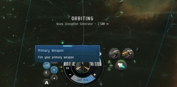 Learning how to fire your primary weapon in EVE Online