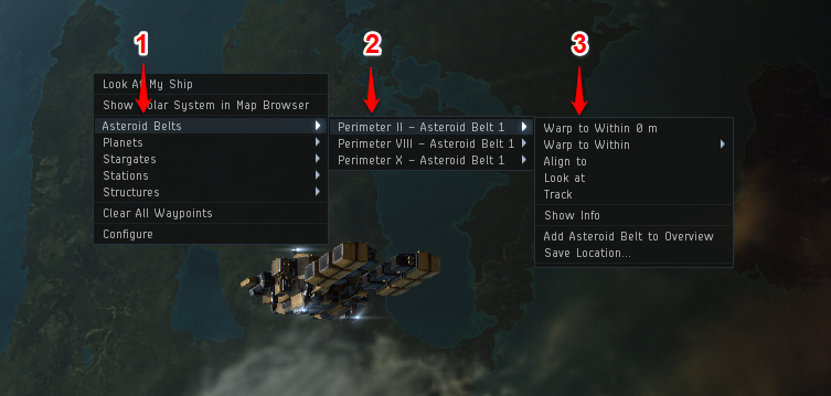 An introduction to industry in eve online inn once you are in a belt you may use a scoped survey scanner to get a glimpse of the available asteroids to mine if you do not have one of these mid slot malvernweather Choice Image
