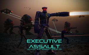 Initial loading screen for the indie RTS Executive Assault