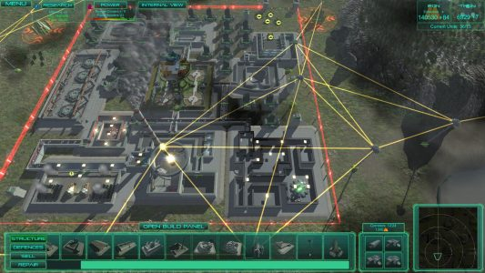 A fully developed base in a single player game of Executive Assault