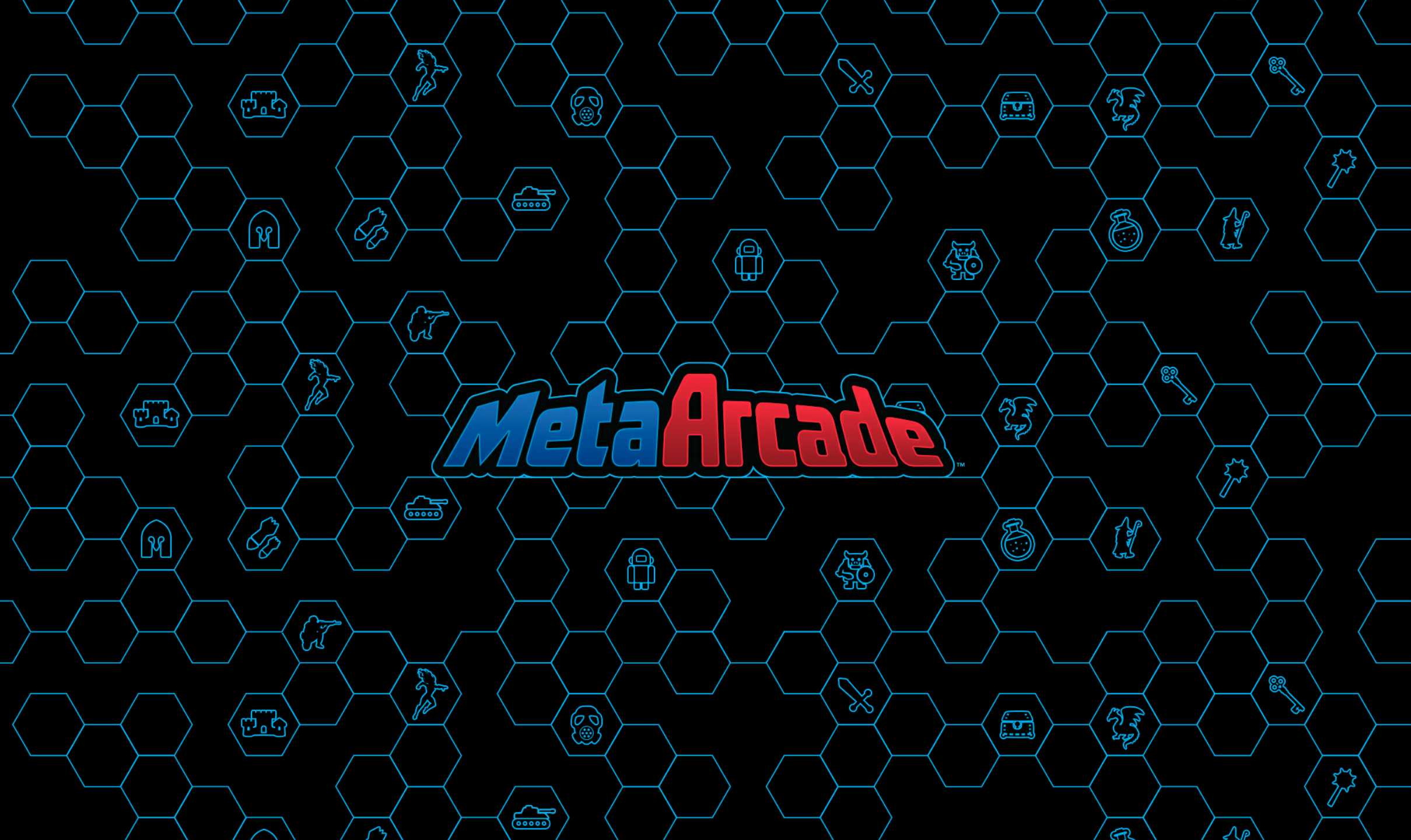 MetaArcade logo from their sneak peak application on android