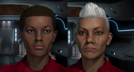 Commanders from the character creator in Elite Dangerous 2.3