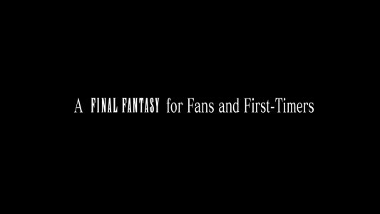 The first screen that pops up after Final Fantasy XV is loaded on the PS4.