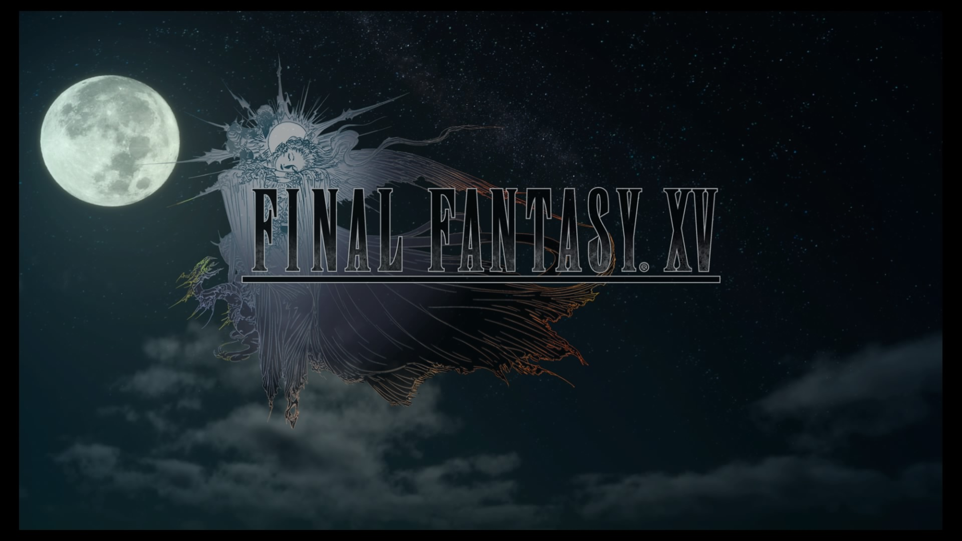 Final Fantasy XV Title Screen on PS4