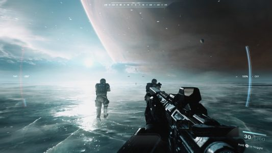 The prologue of Call of Duty: Infinite Warfare puts players on the surface of Europa