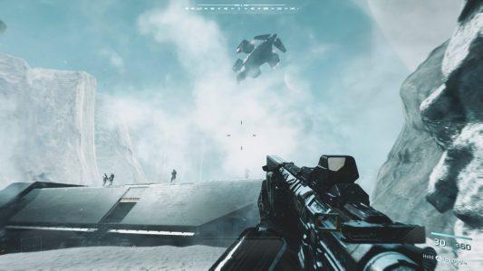 Sneaking into a base in Call of Duty: Infinite Warfare
