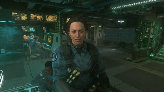 Claudia Black in Call of Duty: Infinite Warfare