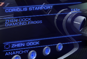 An image of the Zhen Dock belonging to the Diamond Frogs in Elite Dangerous.