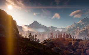 Pretty sunrise in Horizon Zero Dawn