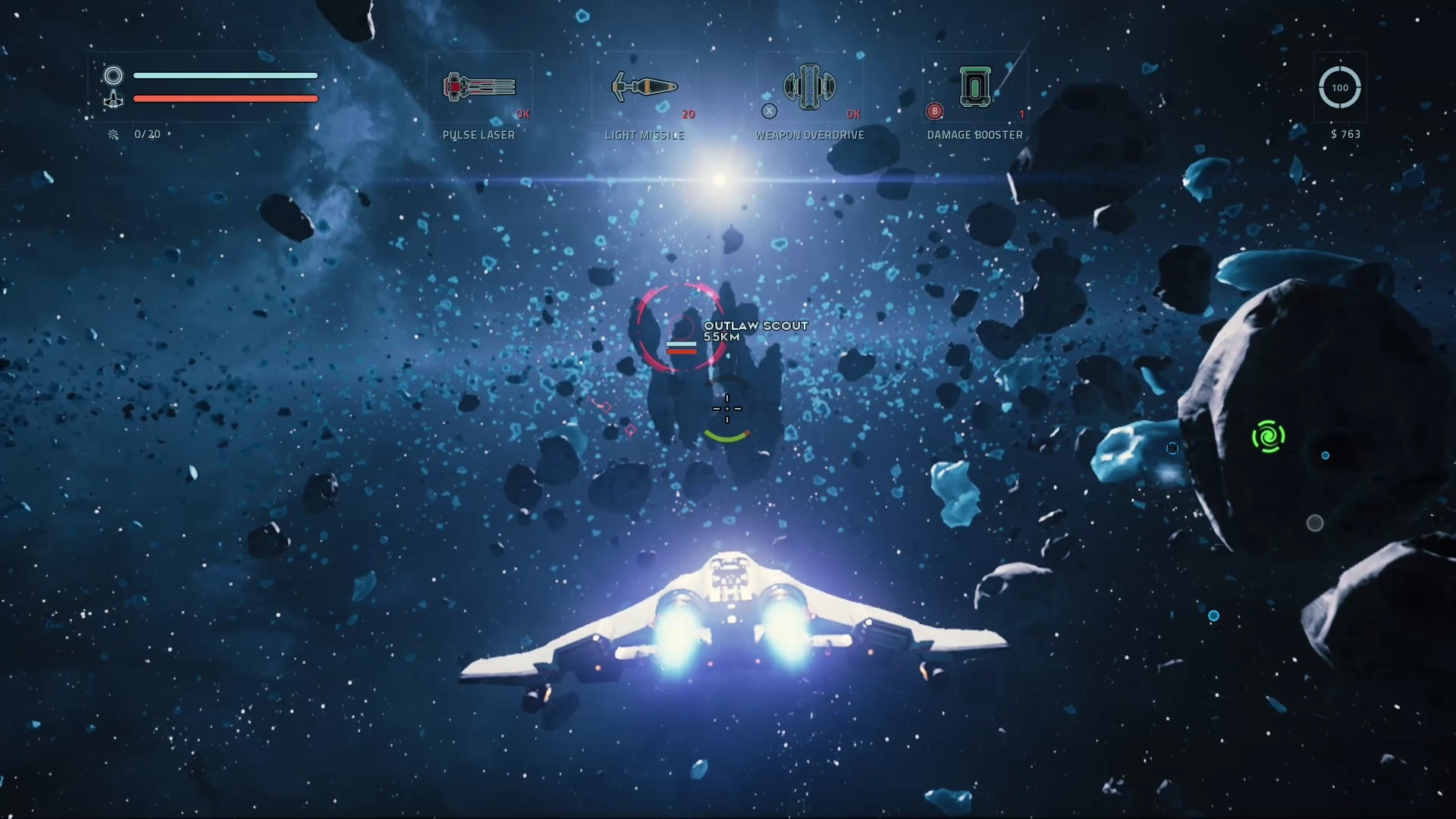 About to engage Outlaws in Everspace