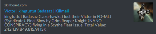 Victor AT ship loss
