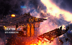 Guardians of the Galaxy HQ on Fire art
