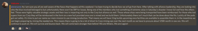 no srp for miners legion supers