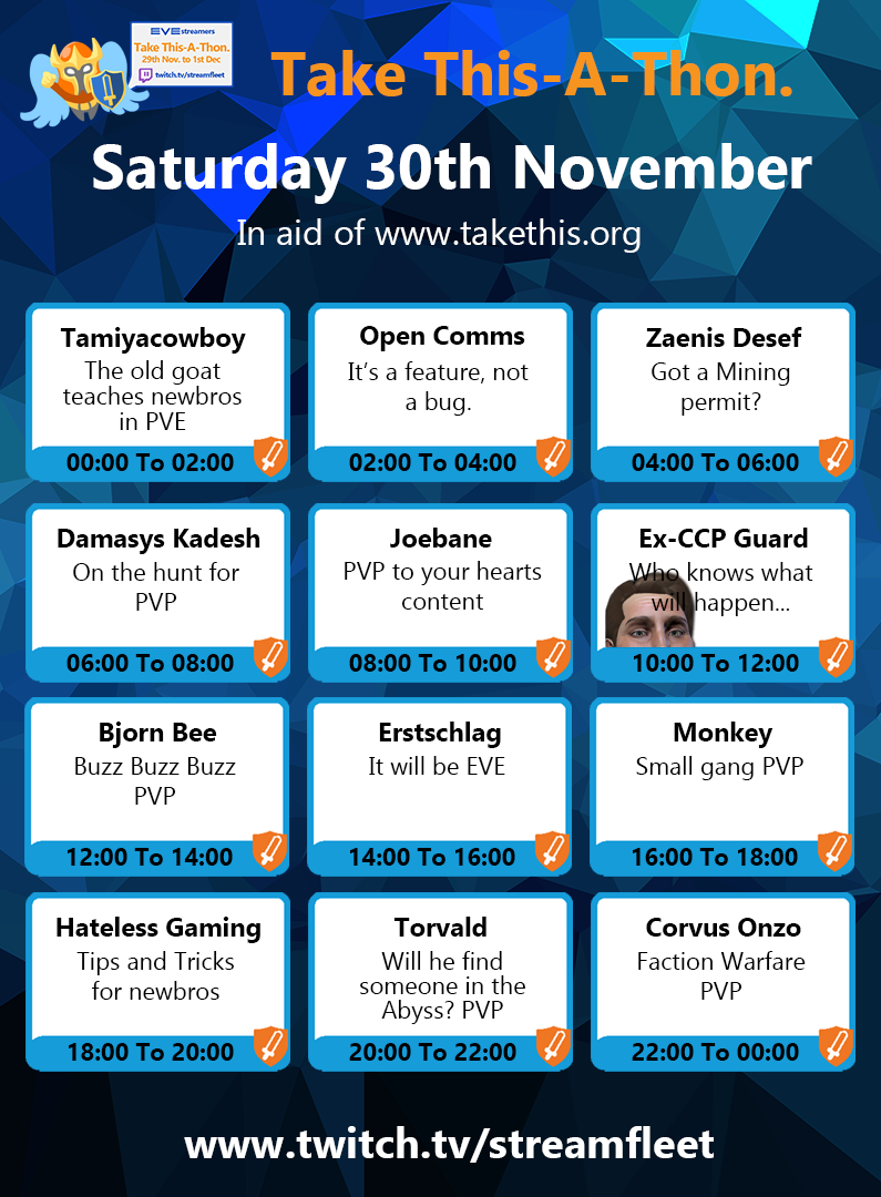 Streamfleet Saturday 30 Nov