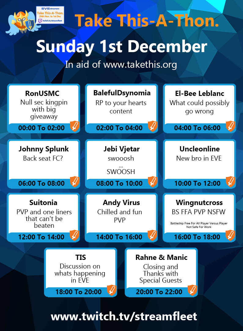 Streamfleet Sunday December 1